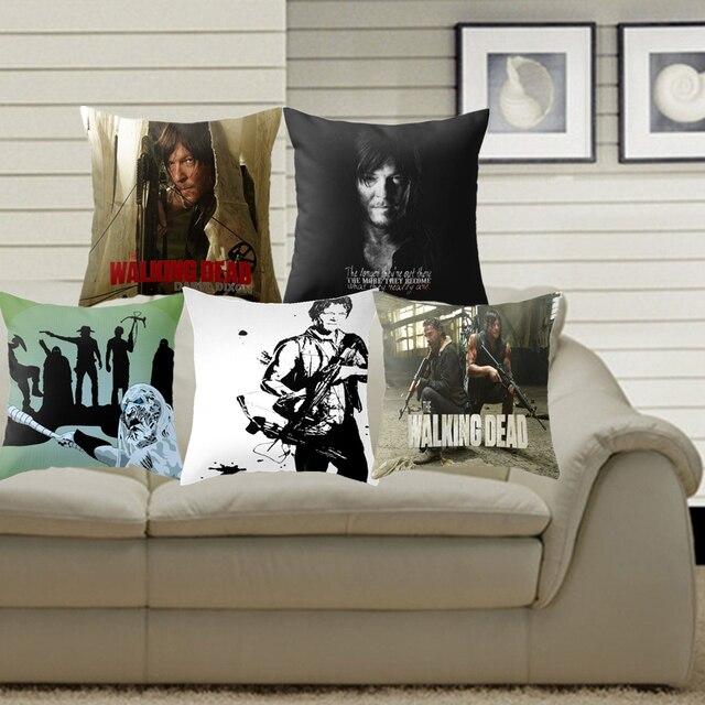 Pillowcase The Walking Dead Cushion Cover Polyester Cotton Chair Sofa Home  Decor Throw Pillow Cover