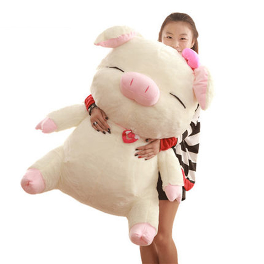 Animate Plush Mcdull Pig Stuffed Animal Pluche Stuffe Speelgoed Piggy Stuffed Anime Plush Pillow Kawaii Pig Plush Toys 70C0411 light grey simple long sleeves sweater