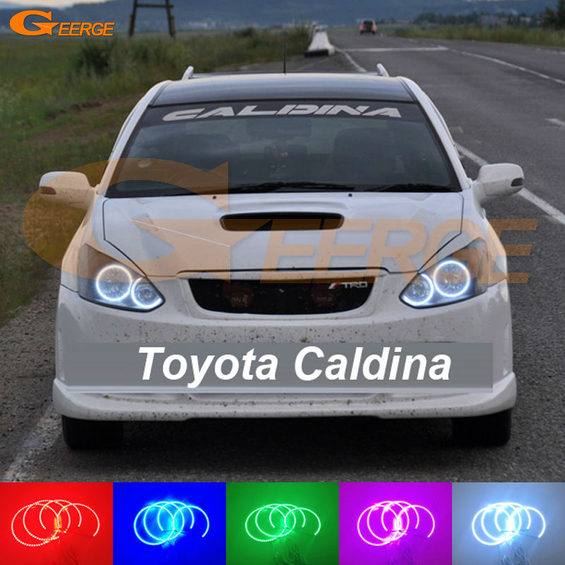 For Toyota Caldina T240 2002 2003 2004 Excellent Multi-Color Ultra bright RGB LED Angel Eyes kit Halo Rings toyota corona caldina модели 2wd