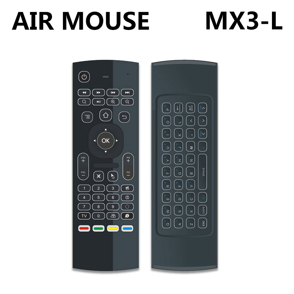 MX3 MX3 L Backlit Air Mouse Remote Control with 2 4GHz RF Wireless Keyboard For tx3