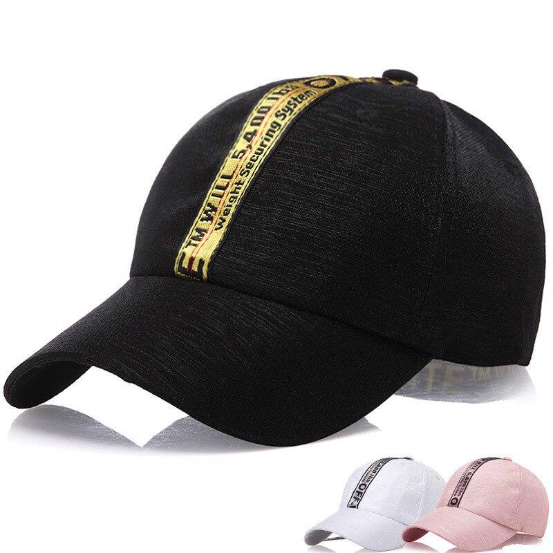 Valpeak 2018 New Letter Embroidery Zipper Baseball Cap Long Strap Belt Snapback Hats Women Men Adjustable Street Fasion Cap