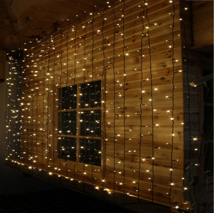 Creative 3*3M 304 Light Curtain LED String Mariage Decoration Christmas Home New Year Wedding Decoration Favors and Gifts-B