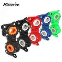 AloneFire 360 degrés Rotation vélo vélo lampe de poche torche montage LED tête avant support de lumière Clip vélo accessoires