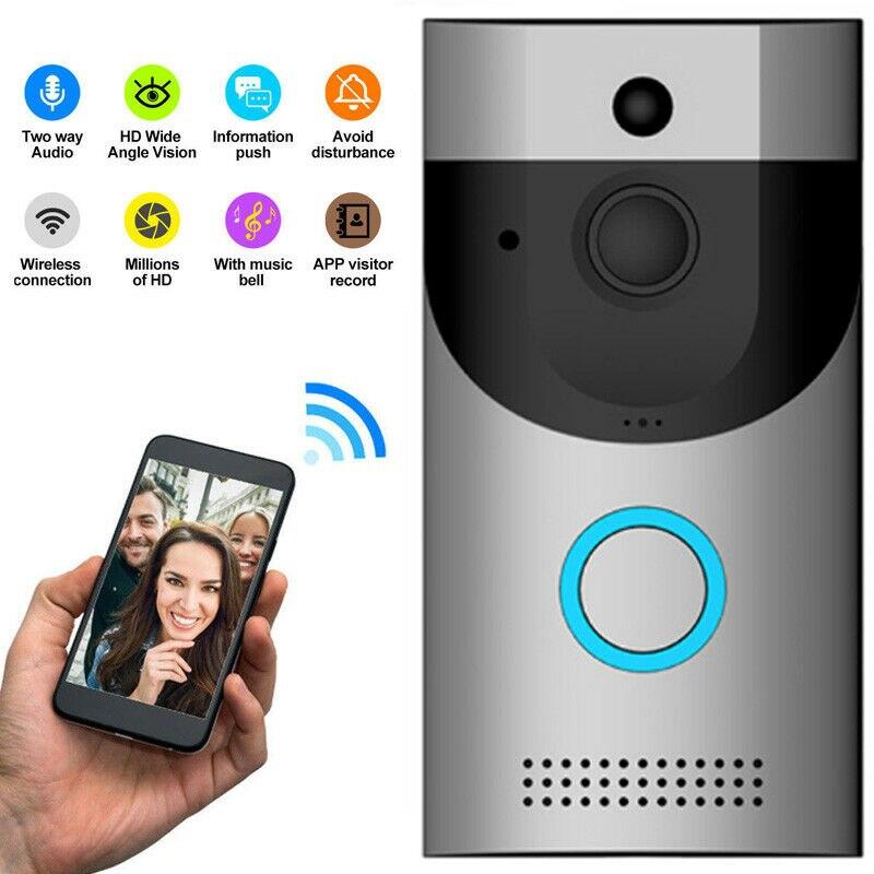 Anytek B30 Wireless WiFi Intercom Video Doorbell Camera + B10 Doorbell Receiver Set Door Bell Camera Wifi Video Night Vision