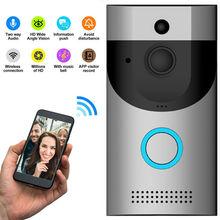 Anytek B30 kablosuz WiFi interkom görüntülü kapı zili kamera + B10 kapı zili alıcısı Set kapı zili kamerası Wifi Video gece görüş
