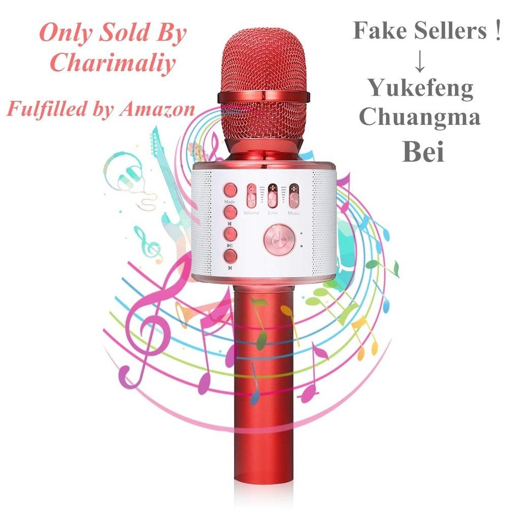 Karaoke Microfono senza fili-NASUM 3 Portatile Costruito In Bluetooth Studio di Registrazione Microfono Inalambrico Microfono A Condensatore