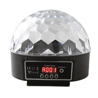 16W DMX512 Magic Ball Led Stage Lamp Voice Control Disco Stage Lighting Digital Christmas Laser Projector