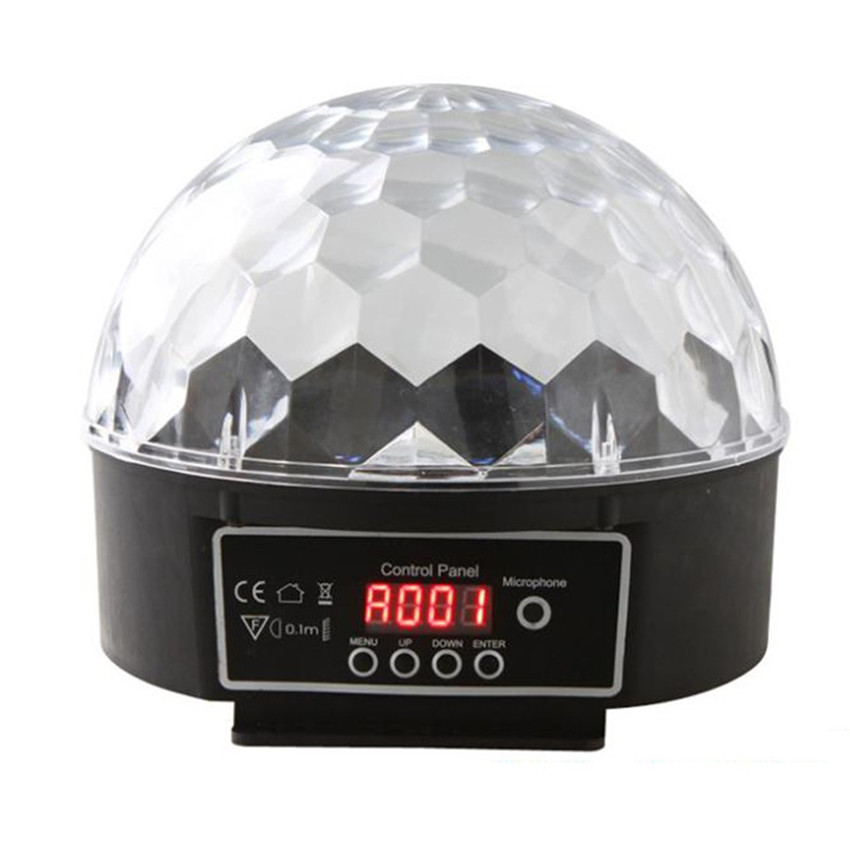 16W DMX512 Magic Ball Led Stage Lamp Voice Control Disco Stage Lighting Digital Christmas Laser Projector DJ Disco Effect Light rg mini 3 lens 24 patterns led laser projector stage lighting effect 3w blue for dj disco party club laser