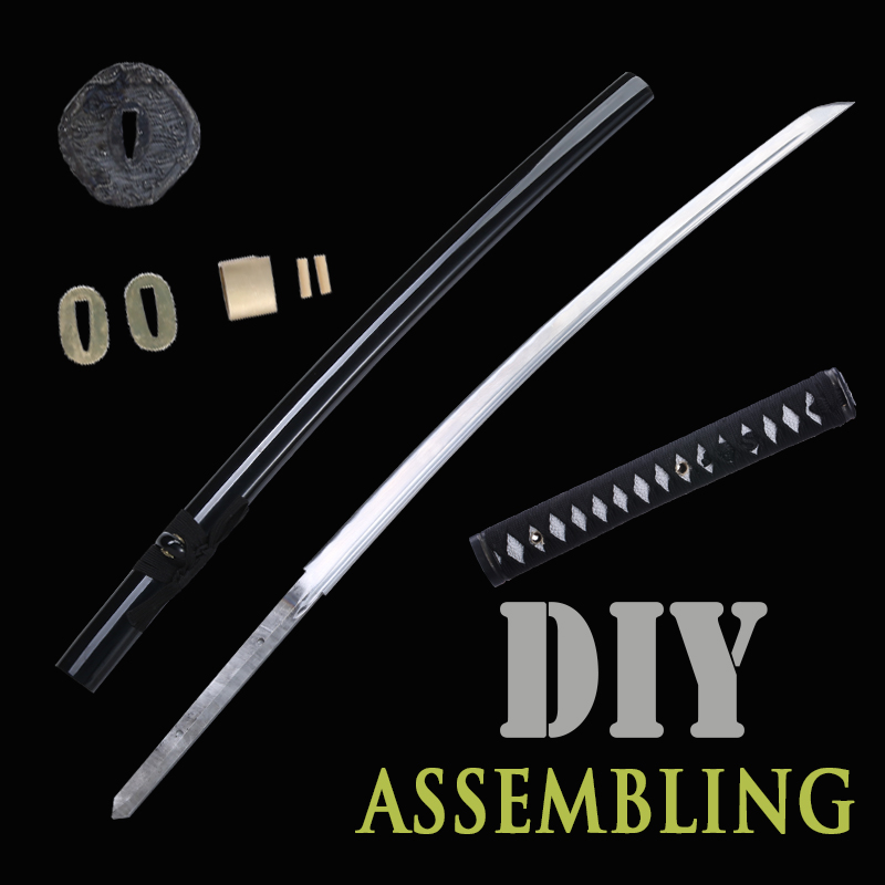 Non Assembled Sword Japanese Handmade Katana 1045 Carbon Steel Special Customized For Yourself Real Blade Full