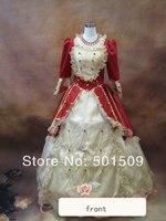 ארוך ימי הביניים רנסנס שמלת שמלת מלכת ויקטוריאני גותי / מארי אנטואנט / מלחמת אזרחים / belle נסיכת כדור