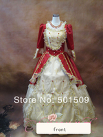 long Medieval Renaissance Gown queen Dress Victorian Gothic/Marie Antoinette/civil war/princess Belle Ball