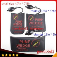 PDR 3pcs Black S M L Professional Lock Pick Diagnostic Tool KLOM Pump Air Wedge Airbag