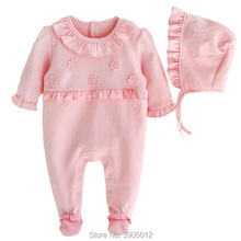 2018 new baby girl clothes toddler infant romper tiny cottons newborn clothing for 0-3 month 1st birthday jumpsuit freeshipping