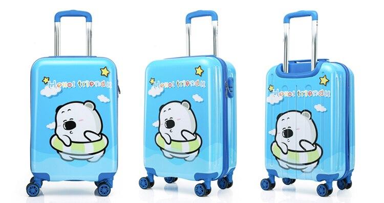 rolando bagagem spinner rodas viagem criança trole