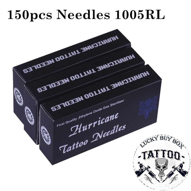Tattoo Needles 150PCS Professional Tattoo Needles 1005RL Disposable Sterilze Round Liner Tattoo Needles For Tattoo Body ArtTattoo Needles   -
