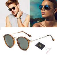 DPZ nuevo 2019 moda clásica Vinatge 2447 estilo redondo rayed gafas De Sol hombres mujeres diseño De marca gafas De Sol Oculos De Sol gafas