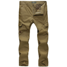 Afs jeep men's  plus size multi-pocket cargo trousers Casual Male  cotton straight jeans 6159