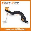 CNC Forged Billet Flexable MX Rear Foot Brake Pedal For RMZ250 RMZ 250 2007-2015 Motorcycle Dirt Bike Motocross Off Road