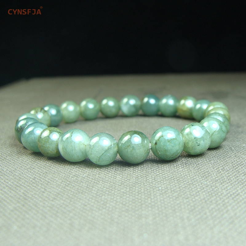 CYNSFJA Real Certified Natural Grade A Burmese Jadeite Women's Amulet Jade Bracelets Green High Quality Fine Jewelry Best Gifts