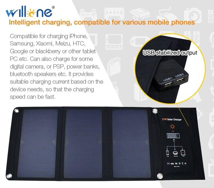Portátil Carregadores de Bateria Solar de Carregamento