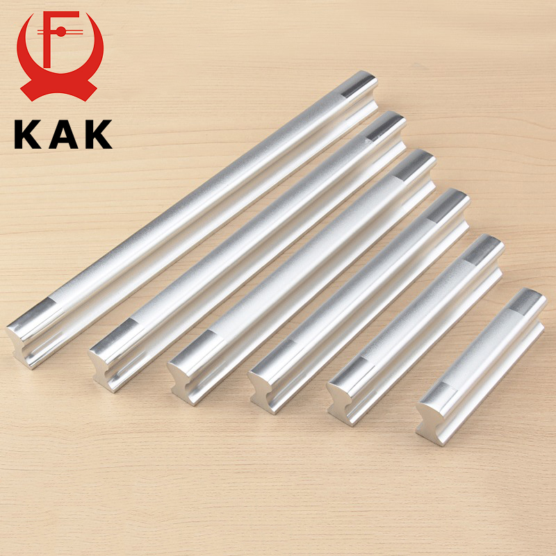 KAK Aluminum Alloy Handles Kitchen Drawer Pulls Cupboard Cabinets Knobs Door Modern Wardrobe Handle For Furniture Hardware Tool furniture handles wardrobe door pulls dresser drawer handles kitchen cupboard handle cabinet knobs and handles 64mm 96mm 128mm
