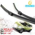 De alta Calidad! 1 par auto vehículo de goma suave bracketless las escobillas del limpiaparabrisas cuchillas para 2008-2012 bmw x6 (e71)
