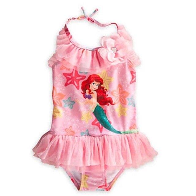 fdfbd440a8b6 retail 2017 Girls Baby girls One piece Swimwear Ariel ...