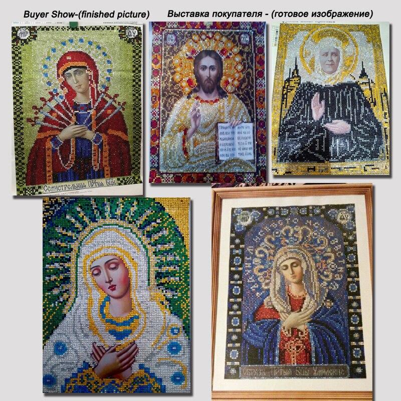 RUBOS Face print diamond painting cross stitch religion virgin Mary hug Jesus icon DIY 5D diamond embroidery mosaic 3D bead sets