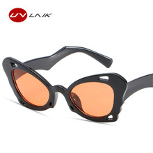 UVLAIK New Women Butterfly Sunglasses Clout Goggles Cat Eye Sunglass Ladies Fashion Katie Holmes NIRVANA Kurt Cobain Sunglasses