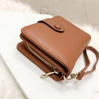 Lady Snap Fastener Zipper Short Clutch Wallet Solid Letter Fashion Small Female Purse Short Purse Vintage