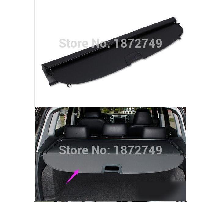 Security Shield Shade Black 2010-2015 For Volkswagen Tiguan Trunk Cargo Cover car styling car rear trunk security shield shade cargo cover for volkswagen vw touran 2016 2017 2018 black beige