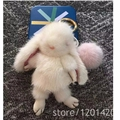 Mink Fur Bunny Bag Charm Luxury Mink Puffs Fluffy Cute Purse Charm Handbag Accessories Bugs Charm Wallet Charm Bunny Pendats