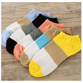 Fashion Autumn Women Socks Delicate Boat Socks Leisure Time Wide Stripe high quality  Ankle low Socks 1lot=10pair