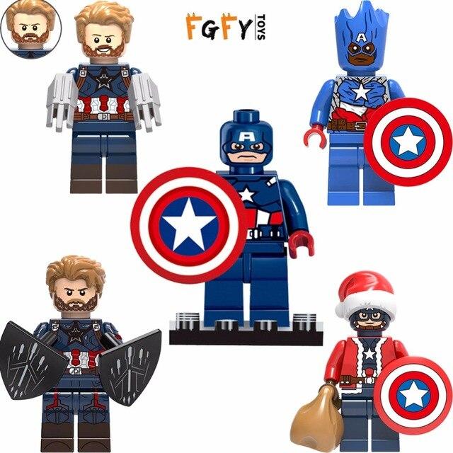 Hot Infinito guerra Super-heróis Vingadores capitão américa homem de Ferro hulk Legoingly DIY Blocos de Construção de brinquedo para crianças presente de aniversário
