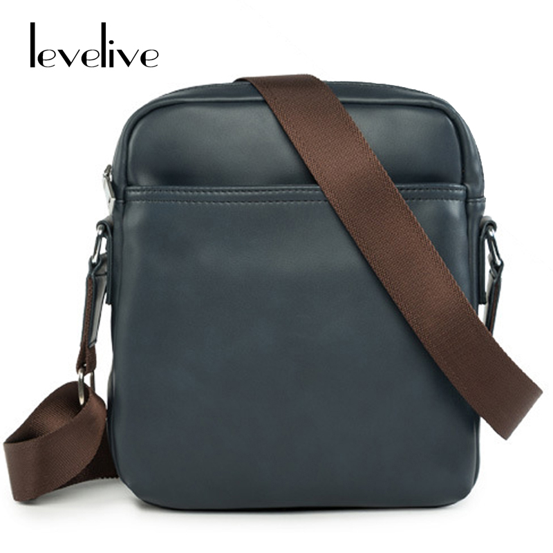 LEVELIVE Casual Men Messenger Bags Men's Designer Leather Shoulder Bag Fashion Mens Crossbody Bag Brand Male Small Travel Bag miwind men travel chest pack leather men crossbody bags men casual messenger bag small brand designer male shoulder bag tzt909