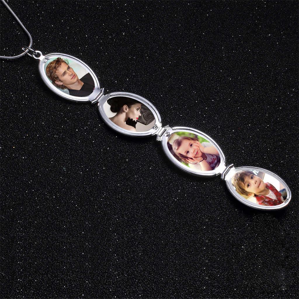 OTOKY ネックレス女性チョーカー拡大写真ロケットネックレスペンダント天使の羽ギフトの宝石の装飾ペンダントネックレス 19May03