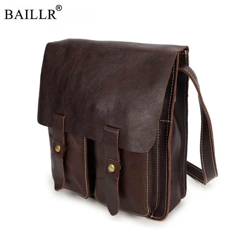 New Arrival Genuine Leather Men Bag cowhide Crossbody Bags Zipper Vintage Messenger Bag Men Leather Brand Handbag Shoulder Bags 2016 new fashion men s messenger bags 100% genuine leather shoulder bags famous brand first layer cowhide crossbody bags