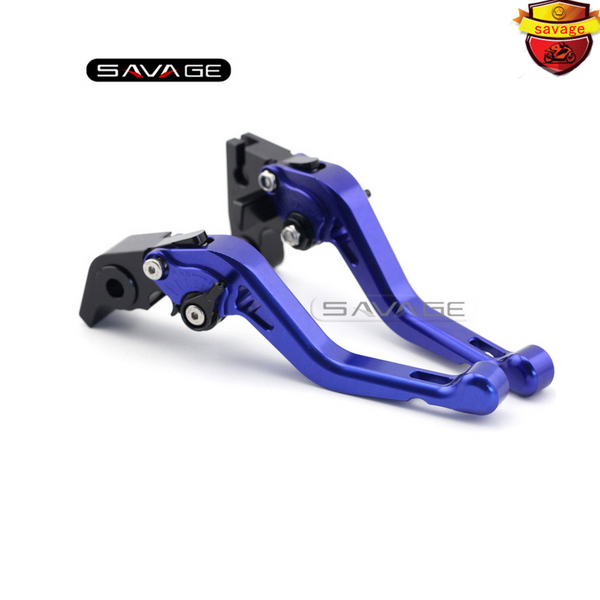 ФОТО For Triumph SPEED TRIPLE R/1050 THRUXTON R 2016-2017 Motorcycle CNC Aluminum Short Adjustable Brake Clutch Levers Blue