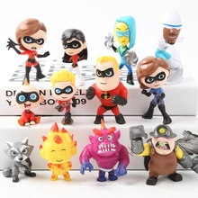 Disney The Incredibles 2 Action Figure 4-8cm 12pcs/set Posture Anime D