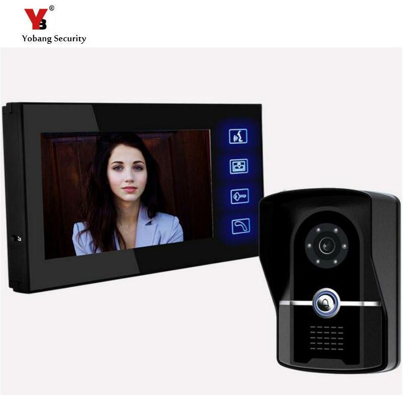 Yobang Security freeship Touch keypad Digital Video Doorbell Door phone Peephole Video doorbell access Control System doorphone цена