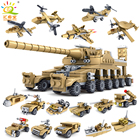 544PCS 16 in 1 Army Tank Building Blocks Bricks Military Vehicles Compatible Legoe Weapons Brinquedo Menina Toys For Children