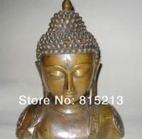 """Bi0070 Große Chinesische Bronze Shakyamuni Buddha Büste Statue 11 """"H-in Statuen & Skulpturen aus Heim und Garten bei"""