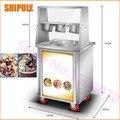SHIPULE Обжарка льда машина ролл из жареного мороженого машина Одиночная круглая сковорода мороженое ролл машина с 3 коробками