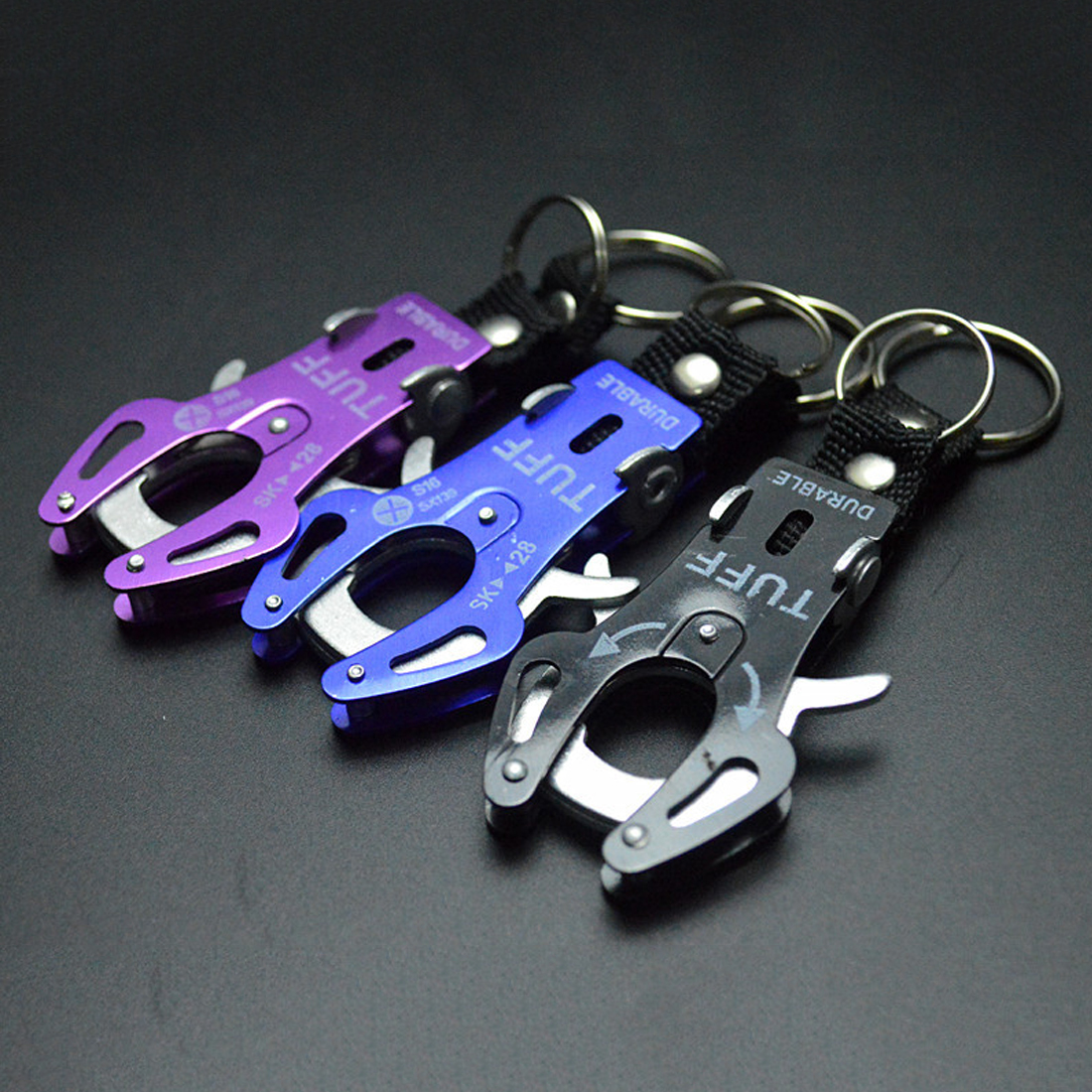 Aluminum Alloy Tiger Buckle Fast Hang Carabiner Hook Travel Kits Camping Equipment Outdoor Survival Gear Mountaineering Hook