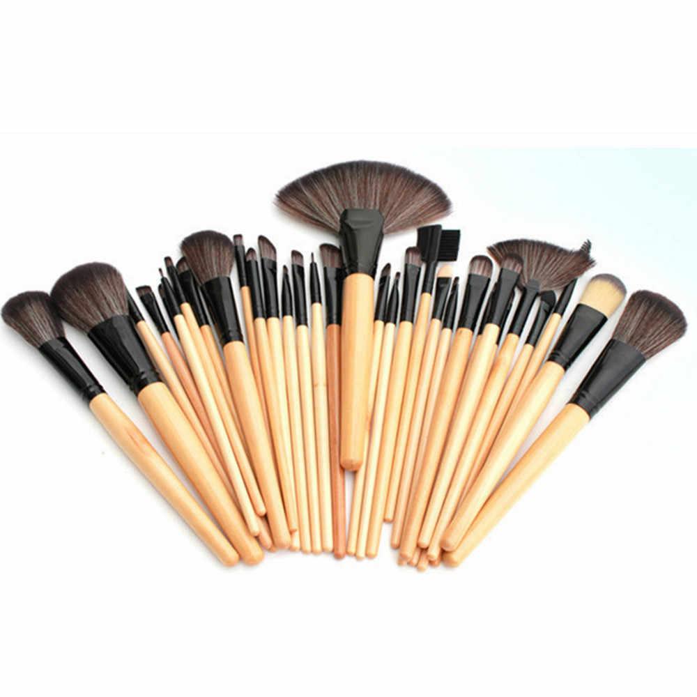 Pincéis de Maquiagem Definir a Sombra de Olho 32 KANBUDER pcs Macio Profissional Sobrancelha Cosméticos Set Kit + Bag Bolsa Profissional Dropship A4