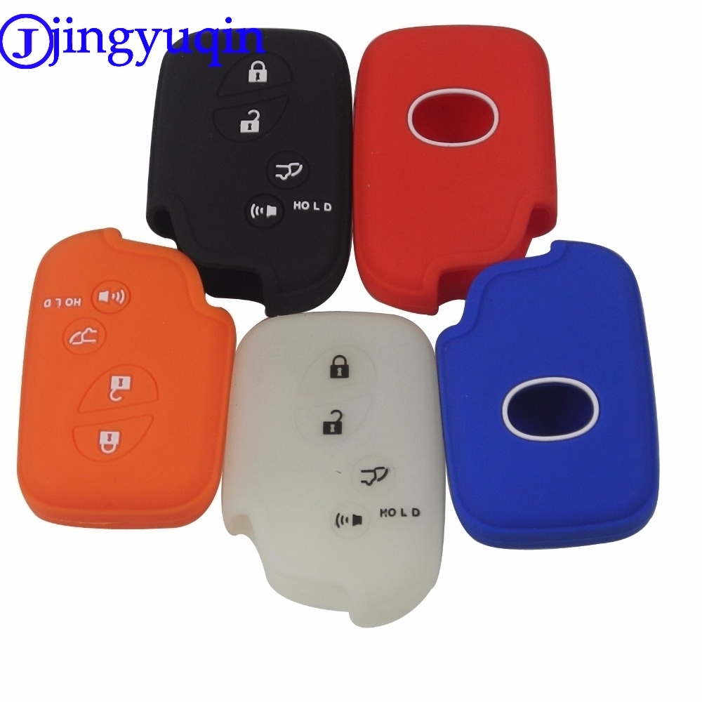 цена на jingyuqin 4 Buttons Remote Silicone Rubber Key Fob Cover Case For Lexus IS250 ES240 ES350 RX270 RX350 RX300 Keyless Holder