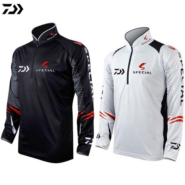 2fb042db DAIWA DAWA Plus Size 5XL Fishing Clothing for Men Summer Breathable Dry Sun  UV Protection Sportswear Man Outdoor Fishing Shirts