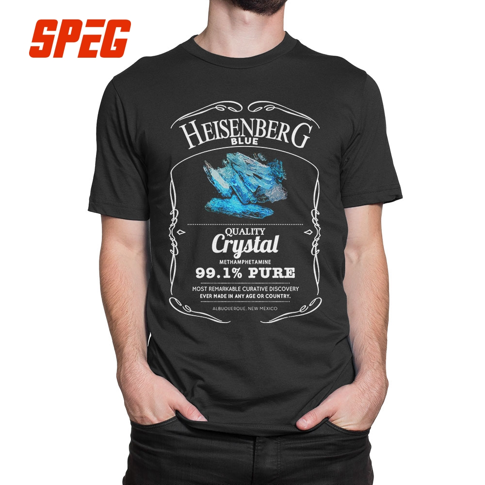 Heisenberg Blue 99.1% Pure Breaking Bad   T  -  Shirt   Summer Style Mens   T     Shirts   Tops O Neck 100% Cotton Short Sleeves Print Tees