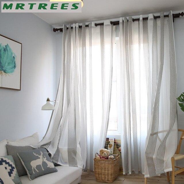 Mrtrees Sheer Rideaux Tulle Fenetre Rideaux Pour Salon Chambre La