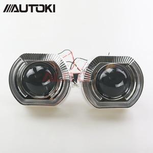 Image 4 - AUTOKI New X5 R 2.0 Sports LED Angel Eyes+ Bi Xenon Lens Projector For Car Retrofit Daytime Running Light 2.5/3.0 H4 H7 9005